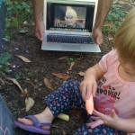 By the power of technology - Grand Dad was able to join our outdoor fun... from Pennsylvania!